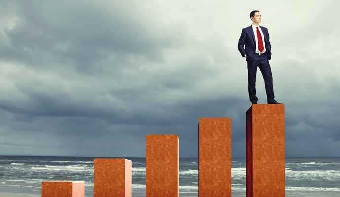 Groei in management illustratie