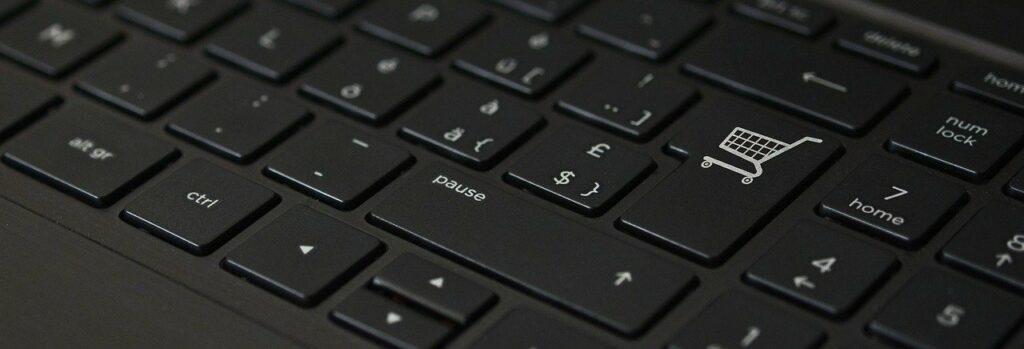 Online winkelen en afrekenen via toetsenbord