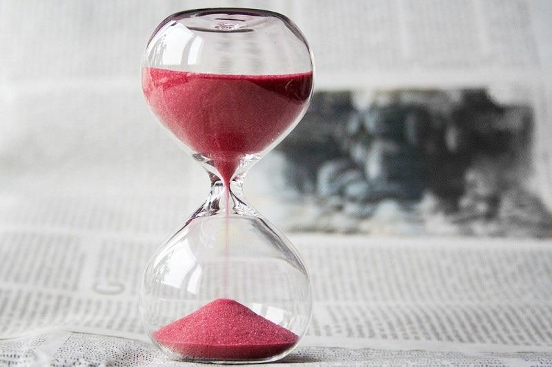 Zandloper als beeld voor Timemanagement